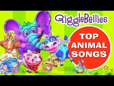 Top Songs About Animals | Nursery Rhymes | GiggleBellies