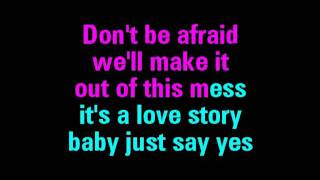 Repeat youtube video Love Story Taylor Swift Karaoke - You Sing The Hits