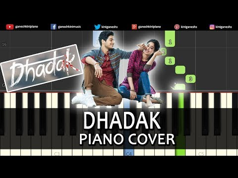 Dhadak Song l Piano Cover Chords Instrumental By Ganesh Kini