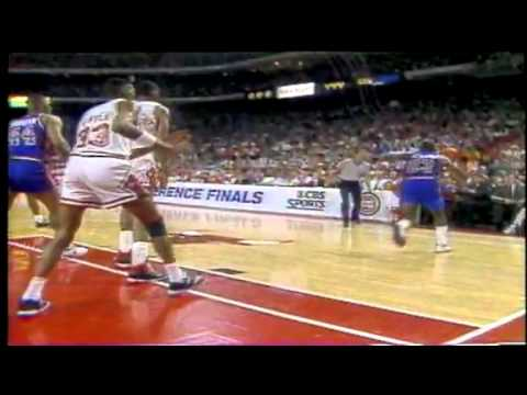 Pistons vs. Bulls in 1988-89 Michael Jordan