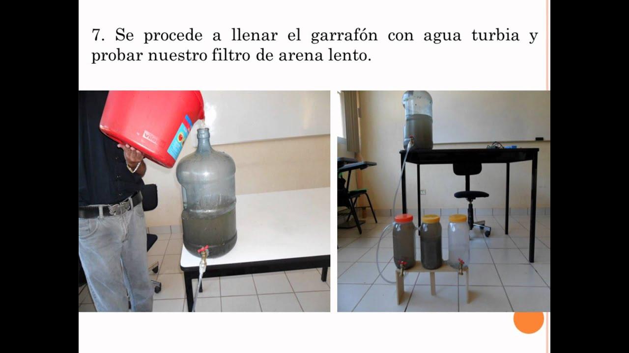 Prototipo filtro de arena youtube - Filtro de arena ...