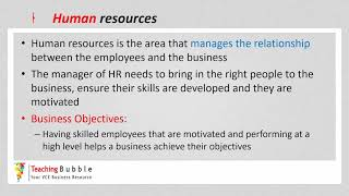 VCE Business Management - Manager Responsibilities