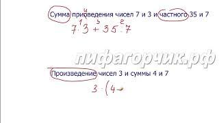 Математика 5 класс. Числовые и буквенные выражения