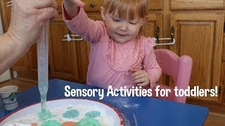 DIY Sensory Activites w/your toddler! Motor skills! Thumbnail