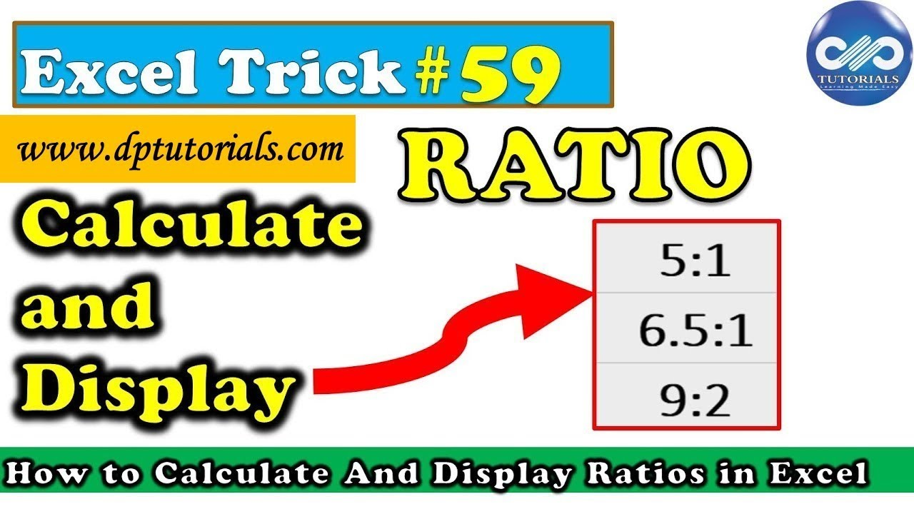 excel tricks   how to calculate and display ratios in