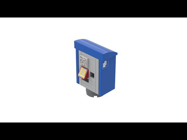 LEGO® Ticket Machine at Swiss Railway Stations with Instructions
