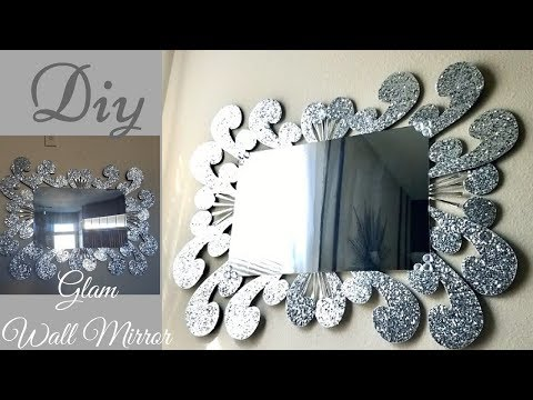 Diy Large Glam Wall Mirror Decor| Inexpensive Wall Decorating Idea!