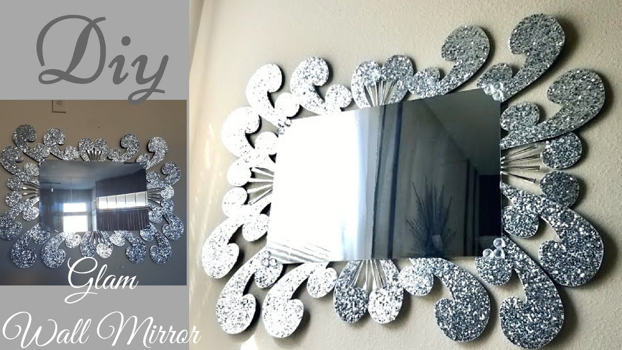 Diy Large Glam Wall Mirror Decor| Inexpensive Wall ...