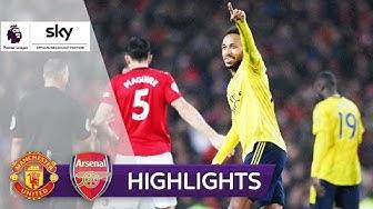 """Auba"" gleicht United-Traumtor aus | Manchester United - Arsenal 1:1 | Highlights - Premier League"