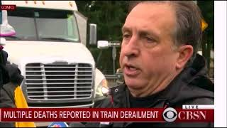 Amtrak Train Derails on Highway Bridge Planned Operations (False Flag) Olympics