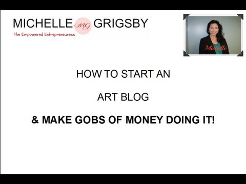How to Create an Art Blog and earn money with it