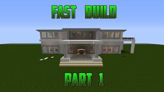 Minecraft Mansion Tutorial - Fast Build - Part 1