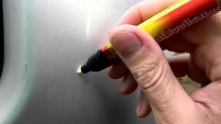 Тест карандаша для удаления царапин на авто  Fix it pro