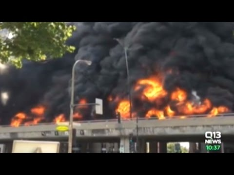 Fuel Tanker Explodes Into Fireball On Highway In Montreal!