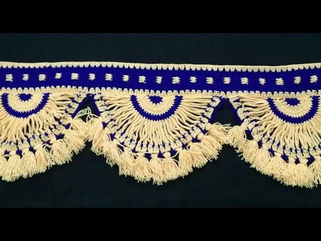 CROCHET: Toran Pattern in Hindi | Vinkam | Woolen Door Toran