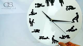 What time is it? Time for sex of course. Funny Wall Clock 12 Inches...