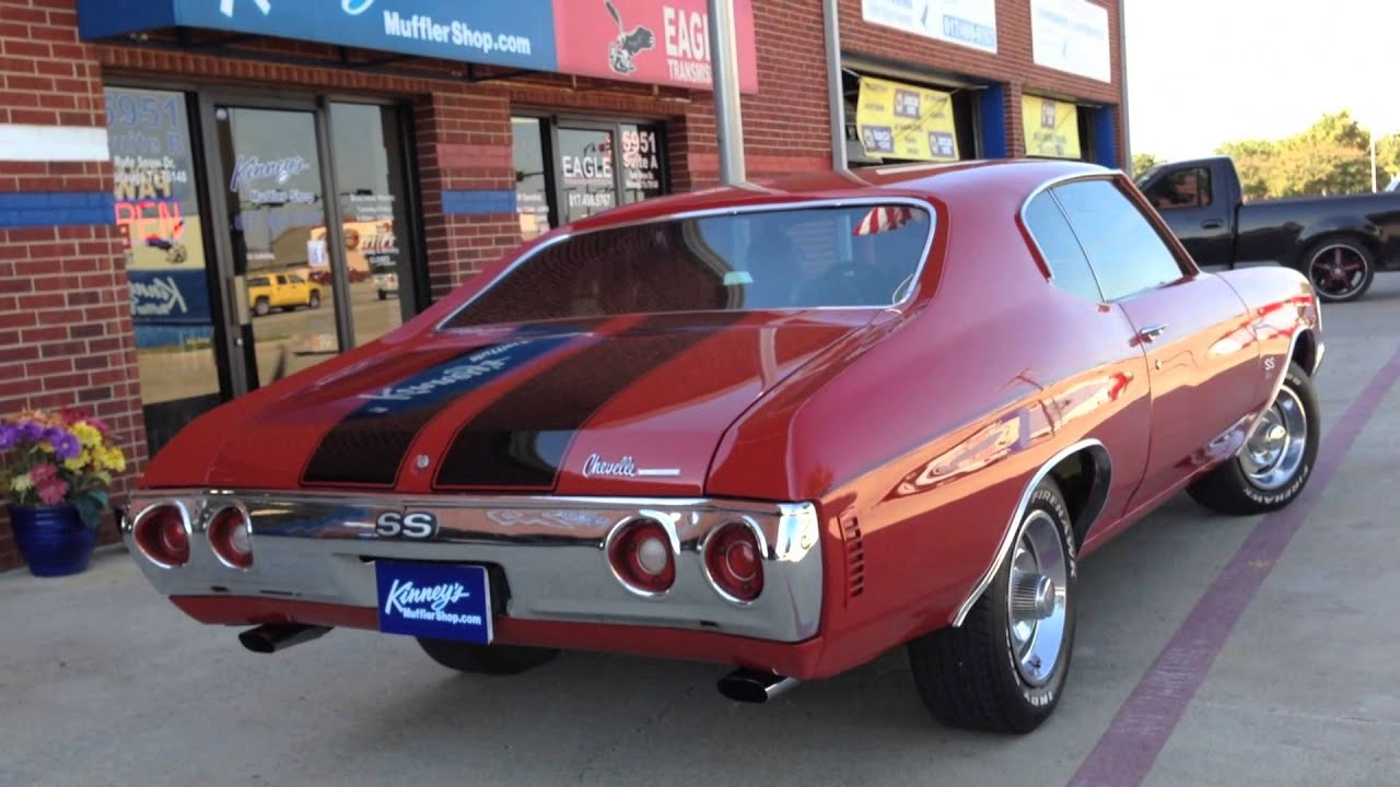 1972 chevelle ss 454 flowmaster super 44 custom dual system by kinney s