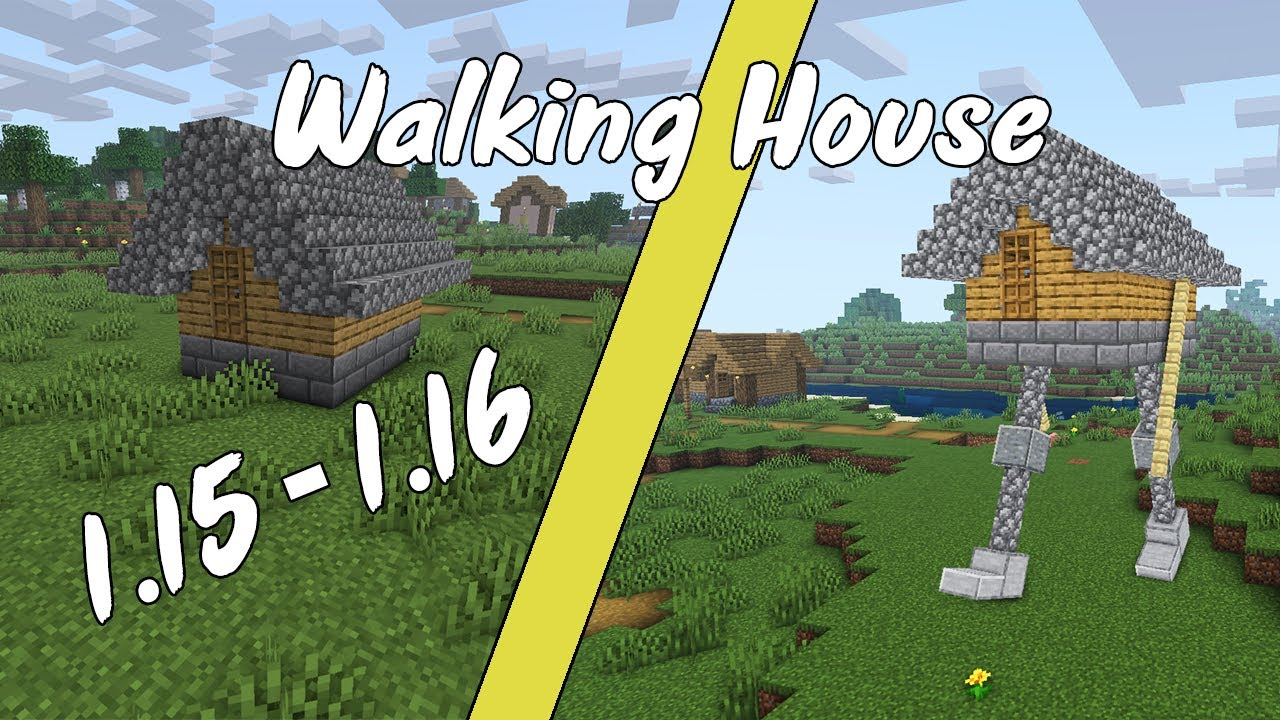 Una Casa Que Camina Sola Walking House Minecraft 1 15 1 16 Youtube