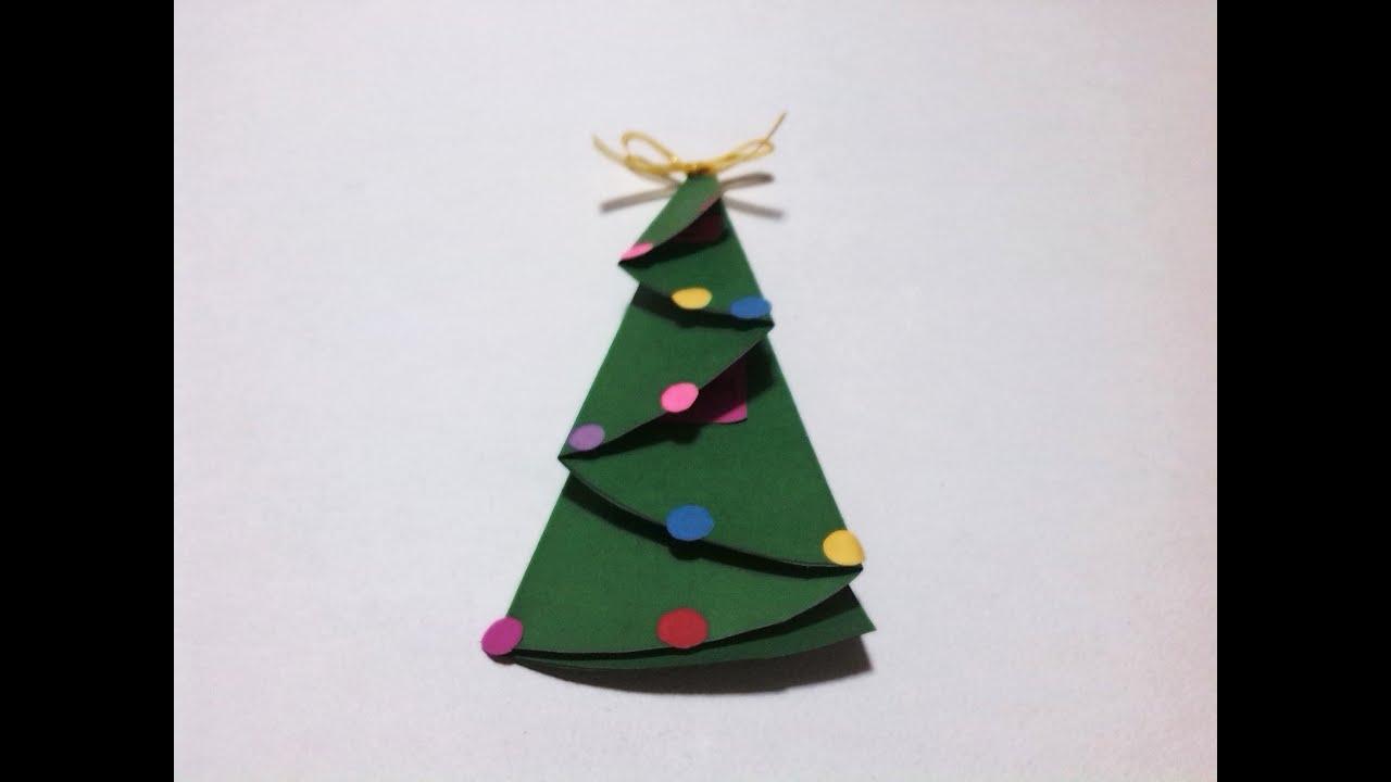 Navidad como doblar una carta en forma de pino f cil - Arbol de navidad de origami ...
