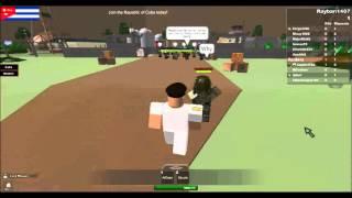 Cuban Soldiers shoots USM GOA Roblox.