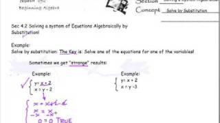 System of Equations with no answers or infinite