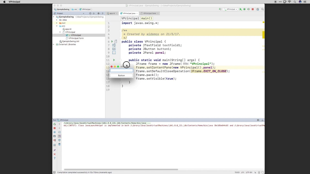 Kotlin - GUI con Swing