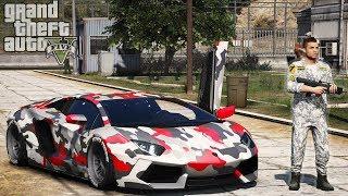 CR7 Ruba una Lamborghini TOP SECRET nella BASE MILITARE!! GTA 5 MOD VITA DA GANGSTER S² EP47