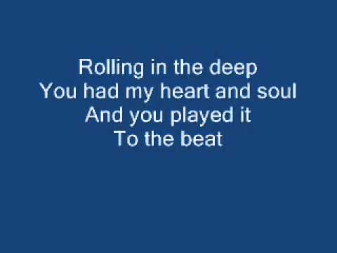 Adele-Rolling In The Deep-With Lyrics