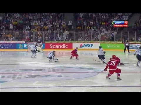 4. Foul von Finnland. Icehockey Final, U20 Russland-Finnland, 05.01.2016