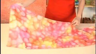 Pintura em Seda – Echarpe com Calda de Açúcar
