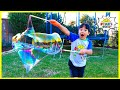 How to make DIY Giant Bubbles homemade with Ryan's World!