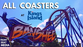 All Coasters at Kings Island + On-Ride POVs - Front Seat Media