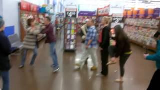 Christmas rumble at Walmart