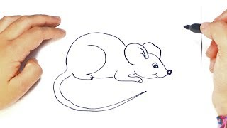 Como dibujar un Ratoncito paso a paso | Dibujo facil de Ratoncito