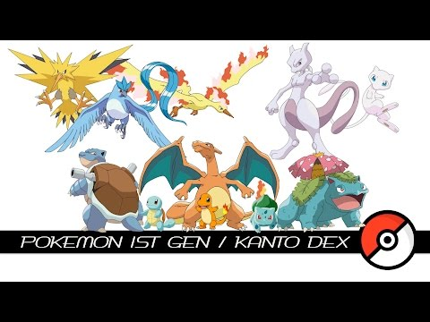 Pokemon 1st Gen / Kanto Dex