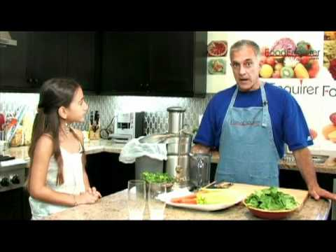 Juicing vegetables with Dr. Bizal