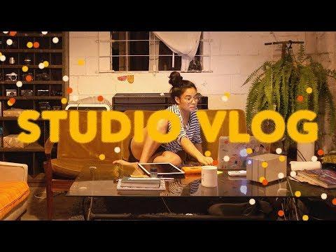 STUDIO VLOG (2 CUTE PROJECTS + Q&A)
