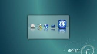 """Debian 8 """"Jessie"""" RC2 amd64. KDE Desktop."""