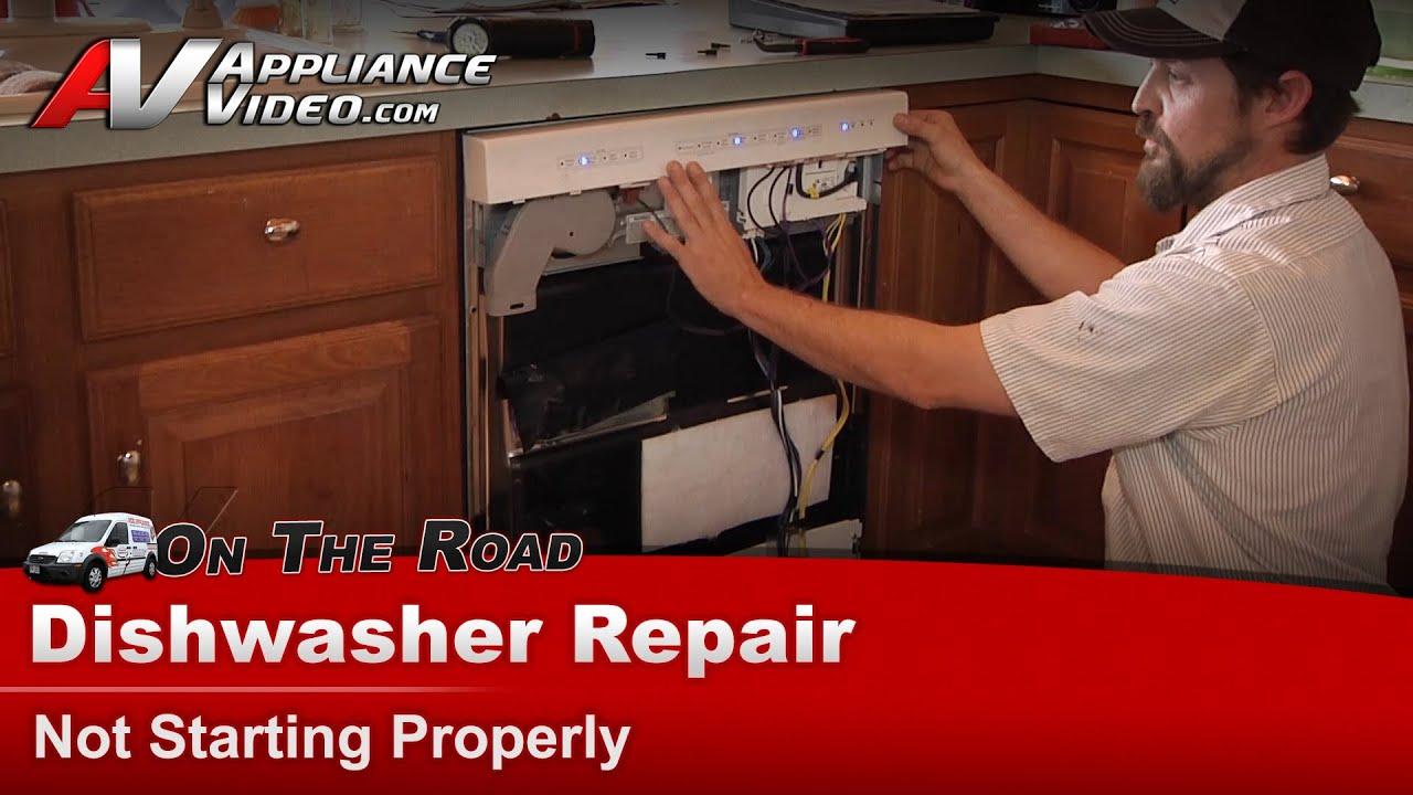 kitchen aid dishwasher repair sink disposal & diagnostic - not starting kitchenaid ...