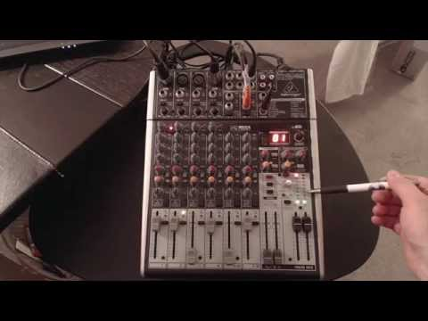 My Mixer Setup, The Behringer Xenyx X1204 USB With FX