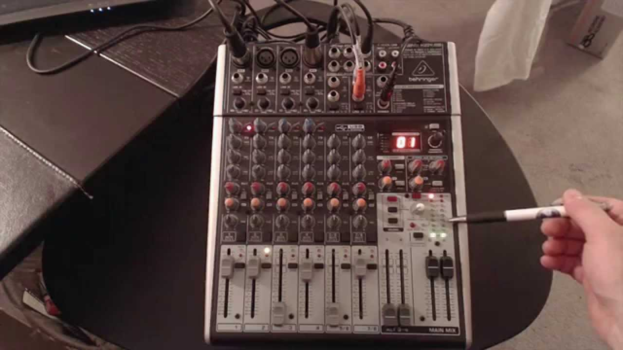 My Mixer Setup The Behringer Xenyx X Usb With Fx