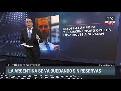 La Argentina se va quedando sin reserva. El editorial de Willy Kohan,