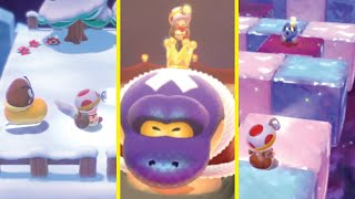 What if all Super Mario 3D World levels, Boss Fights, and CHAMPION'S ROAD were CAPTAIN TOAD LEVELS?