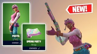 NEW PASTEL Skin AND SPRING PARTY Wrap Gameplay in Fortnite!