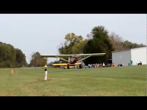 N109JG American Champion Scout 8GCBC landing