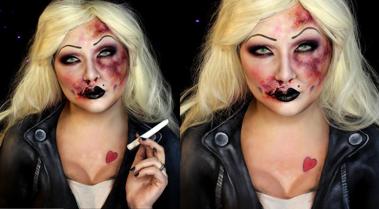 Bruised Bride of Chucky Halloween SFX Makeup Tutorial | Jordan ...