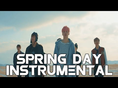 BTS 방탄소년단 - Spring Day 봄날 (노래방/Instrumental/karaoke/off vocal) REMAKE