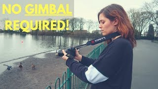 How to get SMOOTH CAMERA FOOTAGE without an EXPENSIVE gimbal! | DSLR Filmmaking Hacks