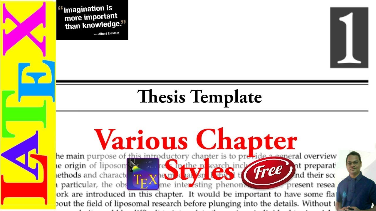 Latex phd thesis style