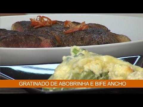 GRATINADO DE ABOBRINHA E BIFE ANCHO